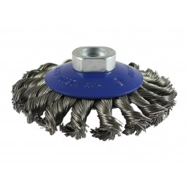 Twisted Knot Bevel Brush - Stainless Steel Wire
