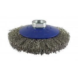 Crimped Bevel Brush - Stainless Steel Wire
