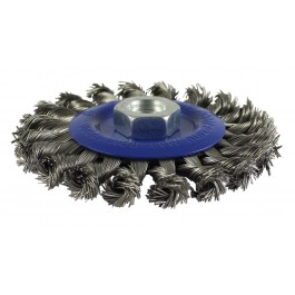 Twisted Knot Wheel Brush - Stainless Steel Wire