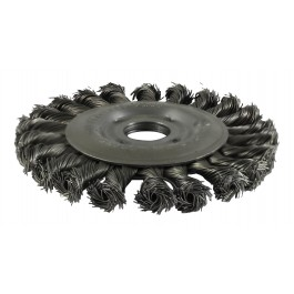 Twisted Knot Wheel Brush - Steel Wire