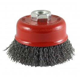 Crimped Cup Brush - Steel Wire