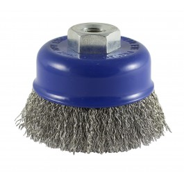 Crimped Cup Brush - Stainless Steel Wire