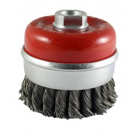 Twisted Knot Cup Brush - Steel Wire