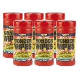 Box of 6 Multi-Use Wonder Wipes - 100/Tub