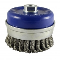 Twisted Knot Cup Brush - Stainless Steel Wire