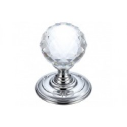 Facetted Glass Mortice Knob