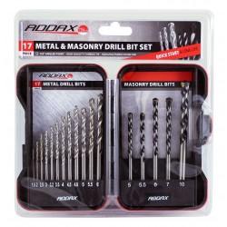 HSS & Masonry Drill Bit Set
