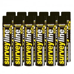 Surveyline Line Marking Paint 700ml - Box of 12 (Black)