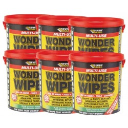 Box of 6 Multi-Use Wonder Wipes - 300/Tub