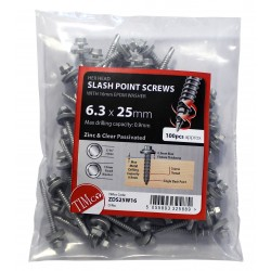 Slash Point Timber Screw - Zinc Bag